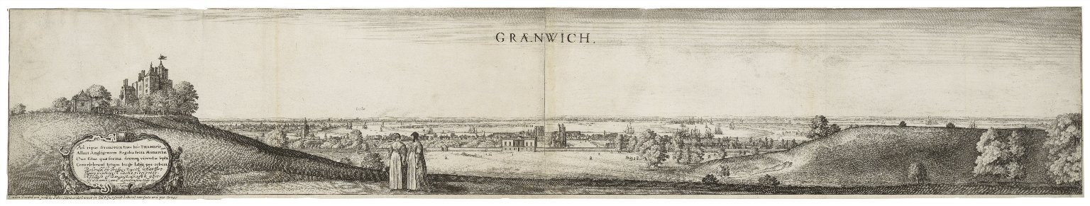 View of Greenwich by Wenceslaus Hollar. Image courtesy of the Folger Digital Image Collection.