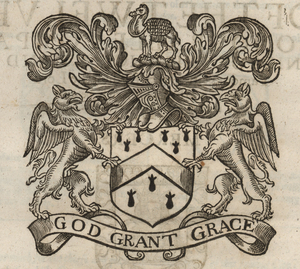 The coat of arms of the Grocers' Company, from Stow (1633). [Full size image]