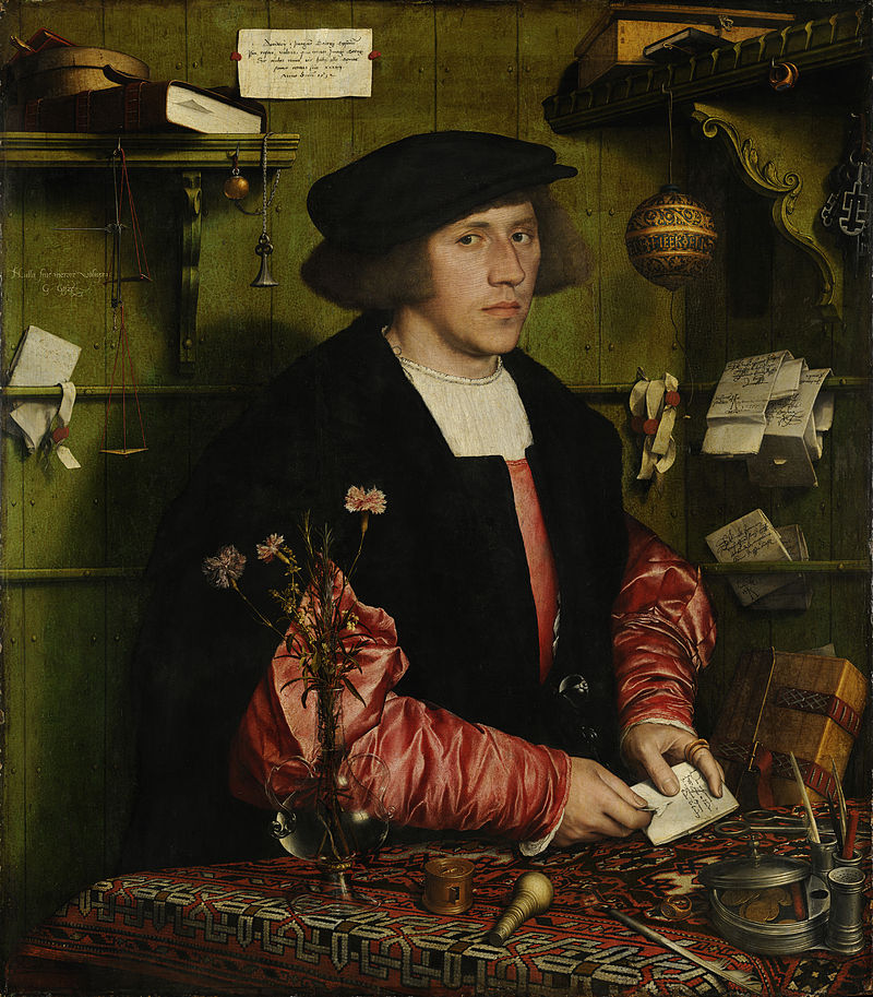 Portrait of Georg Gisze, Steelyard merchant, painted by Hans Holbein the Younger circa 1532. Image courtesy of Wikimedia Commons.