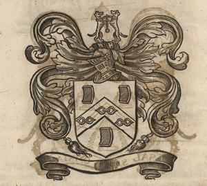The coat of arms of the Ironmongers' Company, from Stow (1633). [Full size image]