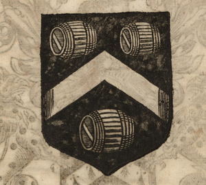 The coat of arms of the Vintners' Company, from Stow (1633). [Full size image]