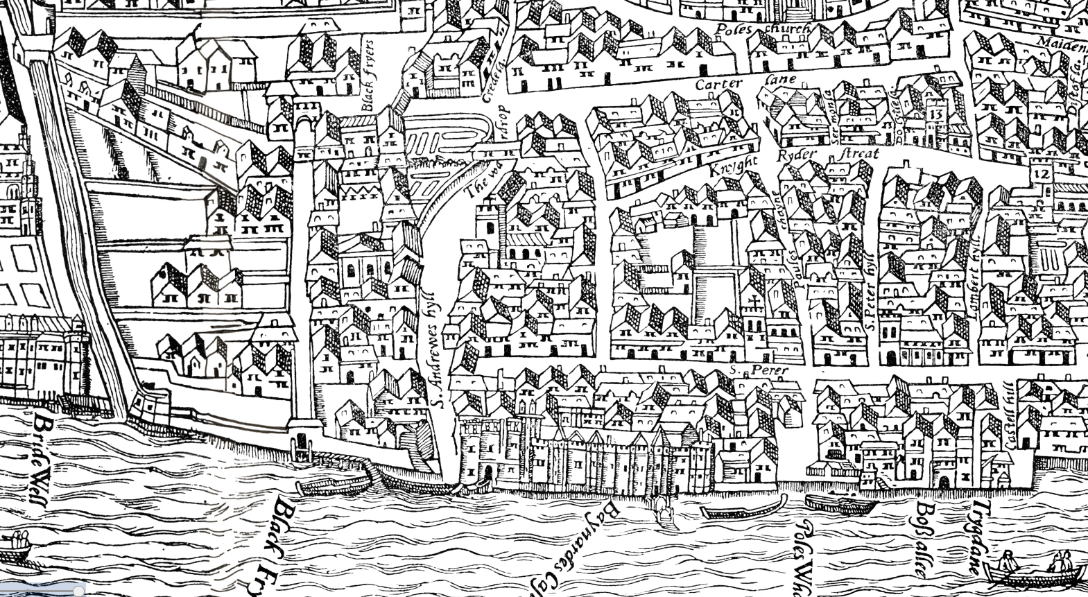Map Of London 1600.Moeml The Agas Map