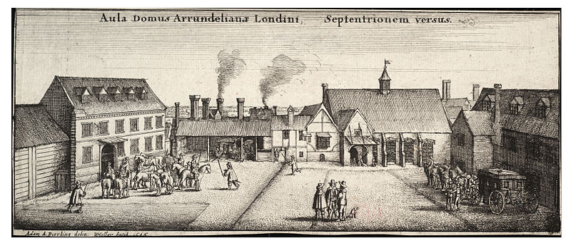 Arundel House, from the North by Wenceslas Hollar. Courtesy of Wikimedia Commons.