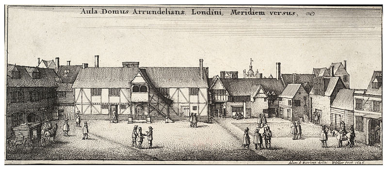 Arundel House, from the South by Wenceslas Hollar. Courtesy of Wikimedia Commons.