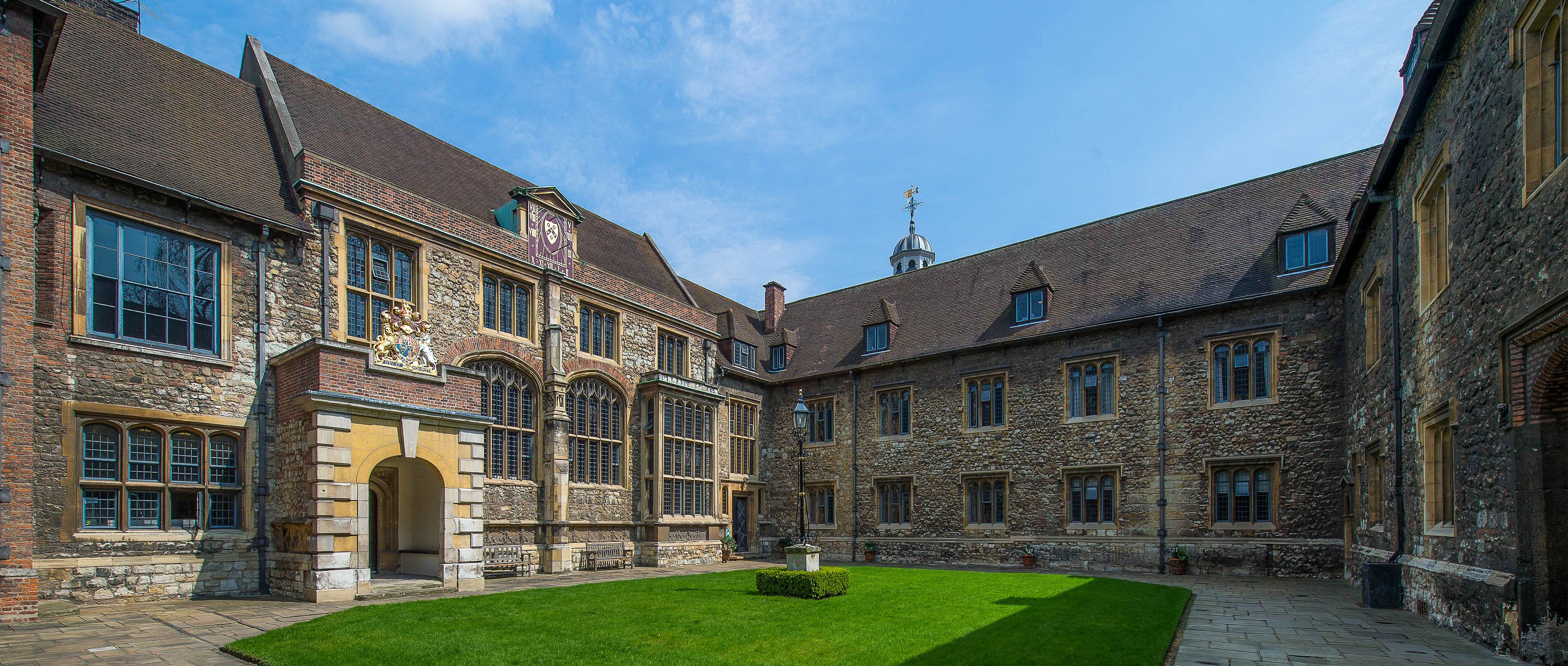 The Charterhouse Great Hall, designed in the sixteenth century by Sir Edward North. Image courtesy of the The Charterhouse.