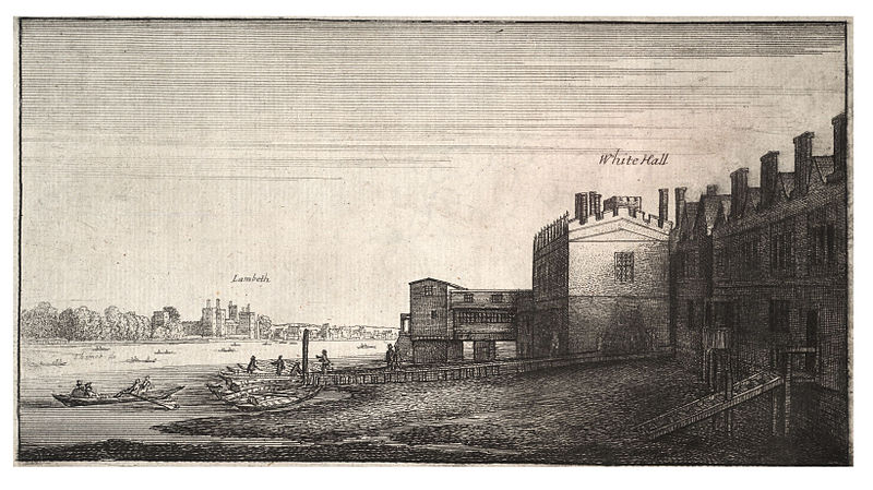 Wenceslaus Hollar, View of Lambeth from Whitehall Stairs. Image courtesy of Wikimedia Commons.