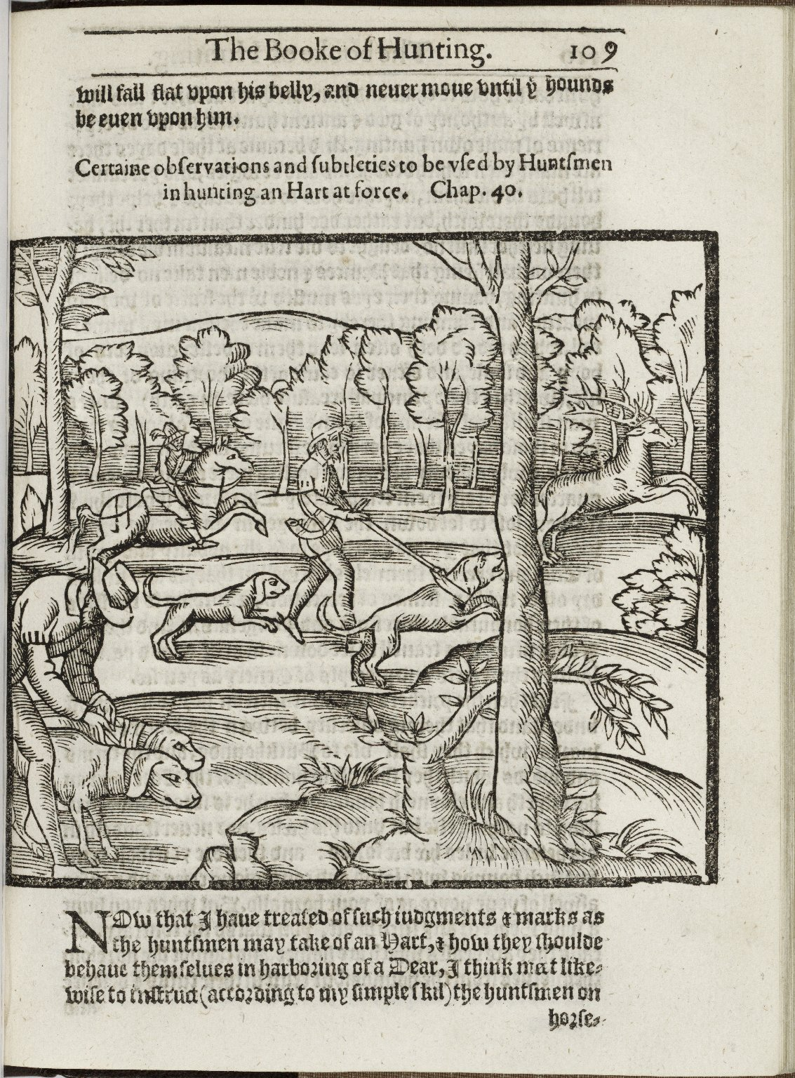 From The Noble Art of Venerie by George Gascoigne, 1611. Image courtesy of LUNA at the Folger Shakespeare Library.