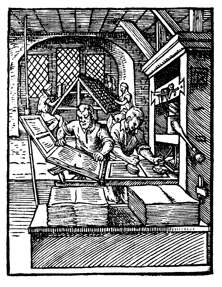 Early modern London print shop. Image courtesy