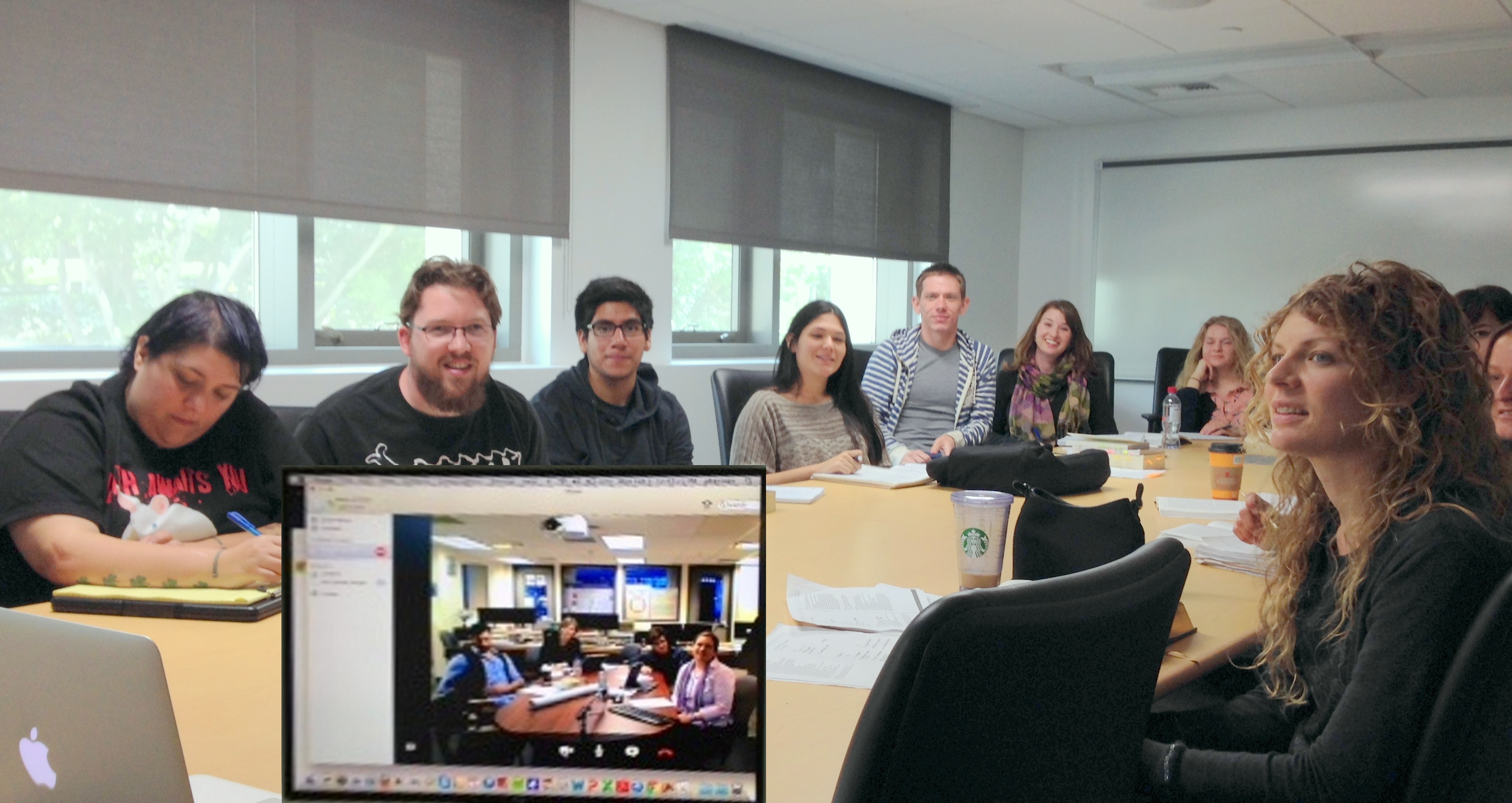 Peter Herman's class @ SDSU meets the MoEML