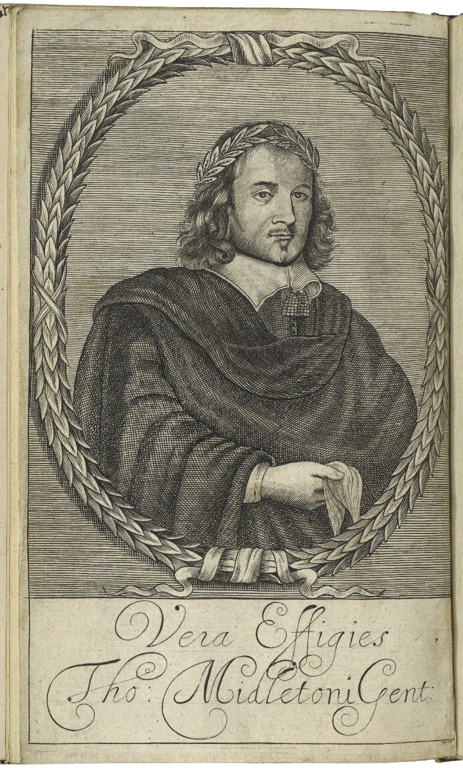 Portrait of Thomas Middleton from the frontispiece to No wit, help like a vvoman, 1657. Image courtesy of LUNA at the Folger Shakespeare Library